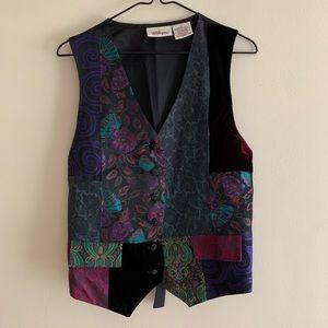 Worthington Textile Vest with Decorative Patterns